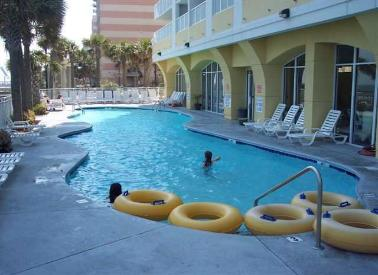 The Ocean Front Water Park at Camelot by The Sea 60 ft. outdoor pool