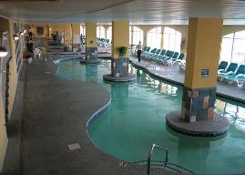 Ocean Front Water Park at Camelot by The Sea 90 ft. Heated indoor pool