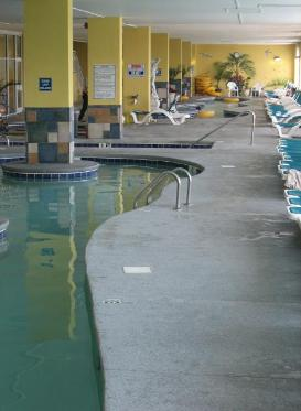 Amazing Water Park at Camelot by The Sea includes heated indoor lazy river, heated indoor pool, indoor kiddie pool, outdoor kiddie pool with mushroom water fountain, indoor hot tub, outdoor pool and giant kiddie sand box