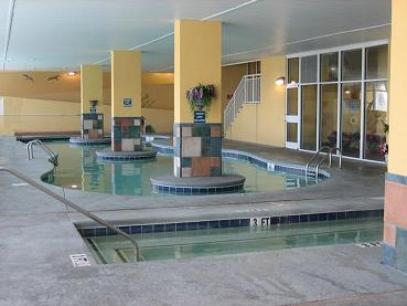 16 person indoor hot tub at The Camelot Myrtle Beach