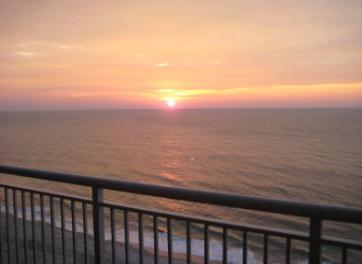 AMAZING! Sunrise from www.JeffsCondos.com Ocean Front Balcony