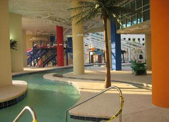 Lazy River at Dunes Village Resort in Myrtle Beach - Largest indoor water park in all of Myrtle Beach SC